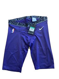 Authentic NBA Nike Pro Cool Basketball Shorts Tights XL Tall Purple Dri Fit