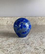 Blue Crystalline Glaze Pottery Paperweight