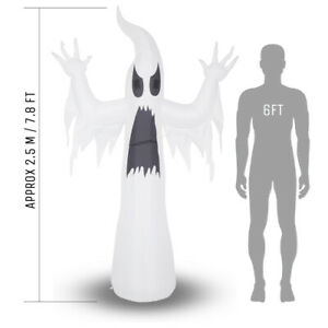 Inflatable Spooky Ghost Halloween Decoration - 2.4m (7ft 11) - Mains Powered
