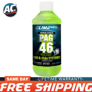 Premium Synthetic A/C Refrigerant Oil PAG 46UV Vis 8oz. for R134a Systems