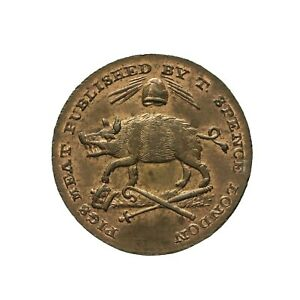 Middlesex Spence's Farthing Token 1795  Advocates / Pig  D&H 1117