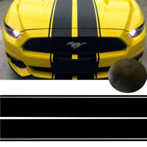 Black Hood Roof Bumper Rally Stripes Decal Racing Trim Graphics For Ford Mustang