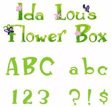 Sizzlits Ida Lou's Flower Box 12-die Alphabet #655447 Retail $69.99 SO FUN!!