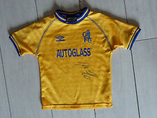 Maillot signé jersey FC CHELSEA blues signed TORE ANDRE FLO ultras foot