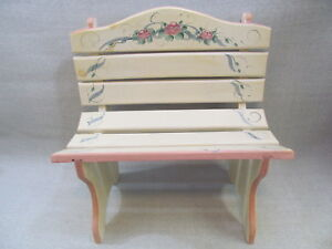 Children's Doll Wood Bench Garden Furniture Patio Yard Park Decoration Painted