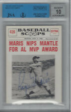 ROGER MARIS 1961 NU-CARD SCOOPS #416 JSA AUTHENTICATED/BGS AUTOGRAPH 10