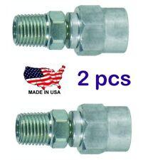 "(2) NOS USA Made Tru-Flate 22-123 Reusable Hose Fitting 1/4"" male NPT"