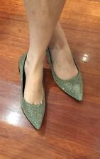 Sparkly Glittery Shiny Pointed Toe Ballet Flats Size 4.5 Size 34
