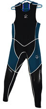AWI 3mm Farmer John Back Zip Scuba Diving Kayak SUP Padding Wetsuit SM BK/GR