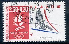 TIMBRE FRANCE OBLITERE N° 2740 EUX OLYMPIQUE ALBERVILLE 1992 SLALOM