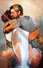 I HELD HIM And Would Not Let Him Go Reprint Jesus First Day In Heaven Male
