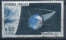 FRANCE TIMBRE OBL N° 1465  lancement du premier sattelite a hammaguir