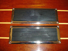 2 BOAT STEP PADS & 2 CHROME FRAMES~PERKO 1225-1~MARINE~CHRIS CRAFT~CENTURY