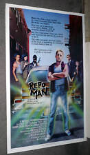 REPO MAN original rolled poster HARRY DEAN STANTON/EMILIO ESTEVEZ one sheet