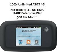 AT&T UNLIMITED DATA 4G ZTE Velocity MF923 Internet Hotspot RV Rural 3 Day Trial