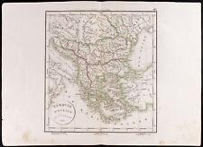 1830 - Carte ancienne Turquie d'Europe / Delamarche / Antik Türkiye haritası