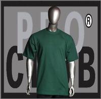 Big and Tall T-Shirts Plain Men PRO CLUB HEAVYWEIGHT Forest Green Tee Shirt