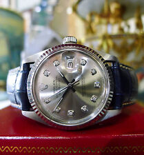 MENS ROLEX OYSTER PERPETUAL DATEJUST STAINLESS STEEL GOLD DIAMOND WATCH