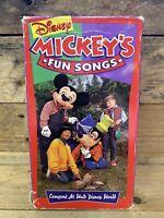 Mickey's Fun Songs: Campout at Walt Disney World  (VHS, 1994) RARE Kids Goofy