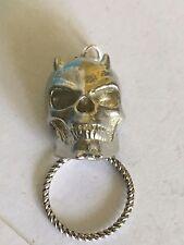 Devil Skull TG92  Brooch drop hoop Holder Glasses, Pen, ID
