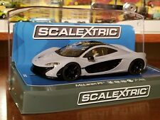 SCALEXTRIC Slot Car 1:32 MCLAREN P1Ceramic Grey Digital Plug Ready NEW