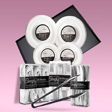 240 x Piece Disposable Dinner Set With Silver Rims + 5 Serving  Platters & Tongs