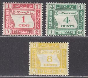 Malaya Trengganu 1937 Postage Due Set to 8c Mint SG D1-D3 cat £72