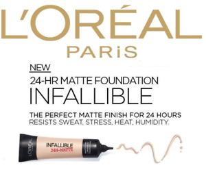 L'Oreal Infallible 24h Matte Foundation 35ml Choose Shade Below