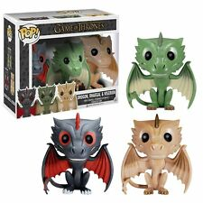 Funko Pop Game of Thrones EXCLUSIVE DRAGONS 3 PACK Drogon Rhaegal Viserion GOT
