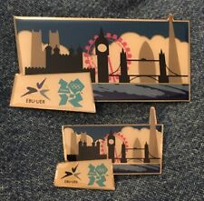 London 2012 Olympic Summer Games Media Pin ~ EBU-UER ~ City Sky Line ~ Lot of 2