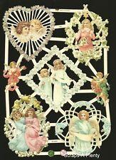 German Embossed Scrap Die Cut - Easter Christmas Delicate Angels EF7353