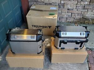 A9500600 Triumph Tiger 800 Expedition Side Panniers/Cases/Bags (New in Box)