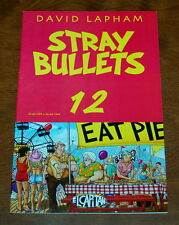 STRAY BULLETS #12 VF+ 8.5 David Lapham, El Capitan, 1st 1995 White Pages