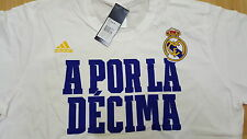 Adidas CL neu T-Shirt Real Madrid Größe XXL weiss Wunschflock möglich
