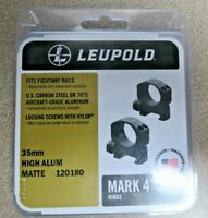 Leupold Mark 4 Scope Mounting Rings, 35mm, High Aluminum, Matte Black New In Box