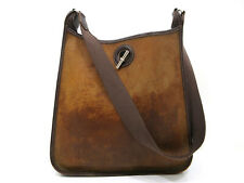 Authentic HERMES Vespa GM Shoulder Bag Leather Brown 73870