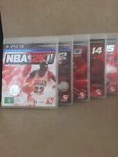 PS3 Game Set Of 5  NBA2K11, NBA2K12, NBA2K13, NBA2K14, NBA2K15