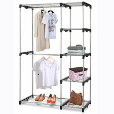 Multi Level Shelf Closet Hanger Organizer Clothes Storage Shoe Rack Dresser