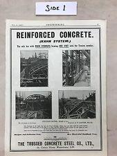 Reinforced Concrete, Stone Breakers Etc: Advert: 1908 Engineering Magazine Print