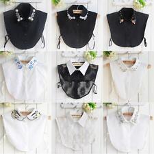 Fashion Women Ladies Choker Necklace Detachable Lapel Shirt Fake False Collar