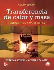transferencia de calor y masa cengel