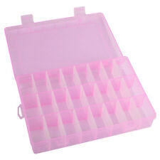 New Adjustable 24 Compartments Plastic Storage Box Jewelry Tool Case Container