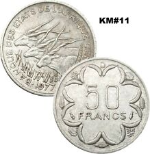 Central African State BEAC 50 Francs KM#11 1976/2003 VG/VF - #21 2006/2019 XF+