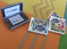 LPS *SILVER* Nintendo DS Gaming + 3 Games Play Littlest Pet Shop Accessories Lot