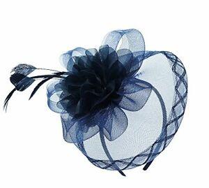 Fascinator Headband Hairband Hair Piece Navy Weddings Races AnyFormal Occasions
