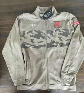 Maryland Terrapins Under Armour zip up military game jacket Size XL NWT MSRP $90