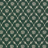 B637 Green, Floral Trellis Woven Jacquard Upholstery Fabric By The Yard
