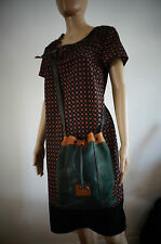 SAC BAG BOURSE POT SEAU bandouliere cuir leather VINTAGE VTG bohême hippie