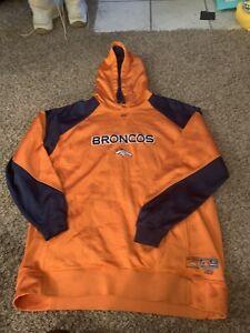Mens Large Denver Broncos Hoodie Super Nice!