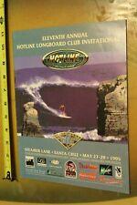 HOTLINE Longboard Club SANTA CRUZ Steamer Lane Vintage 1995 Surf Contest PROGRAM